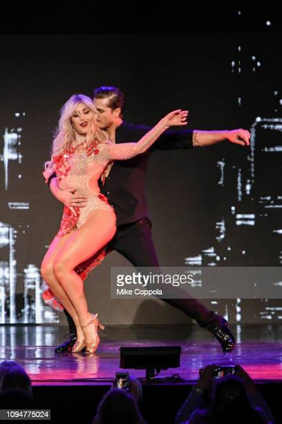 Dancers Emma Slater and Gleb Savchenko perform during Dancing with the Stars Live A Night To Remember New York New York at Radio City Music Hall on...