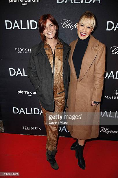 Dancers Fauve Hautot and Katrina Patchett attend Dalida Paris Premiere at L'Olympia on November 30 2016 in Paris France
