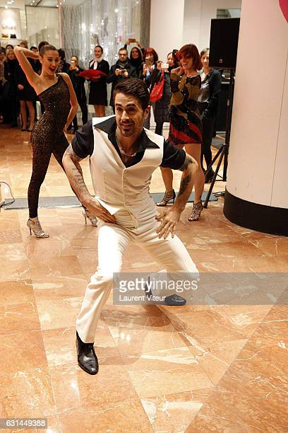 Dancers Fauve Hautot and Nicolas Archambault Perform a Teaser of Musical Comedy 'Saturday Night Fever' to Launch the Galeries Lafayette Winter Sales...