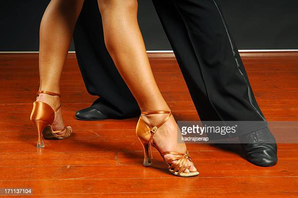dancers feet - salsa dancing stock photos and pictures