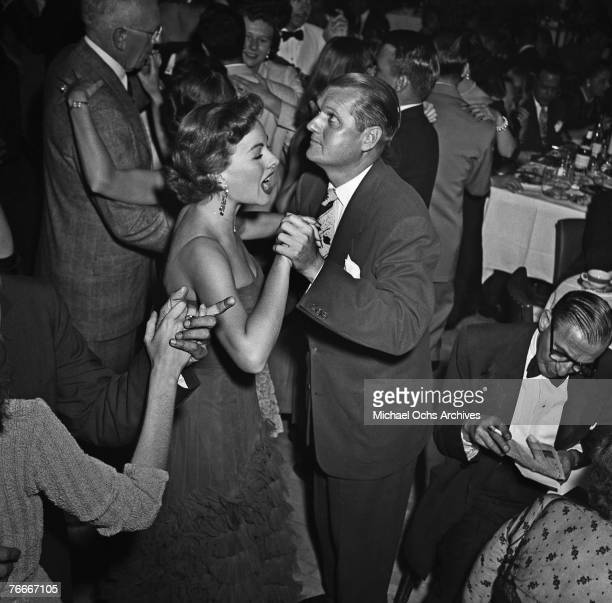 Dancers fill the dancefloor at the swanky Mocambo nightclub on the Sunset Strip in June 1951 in Hollywood, California.
