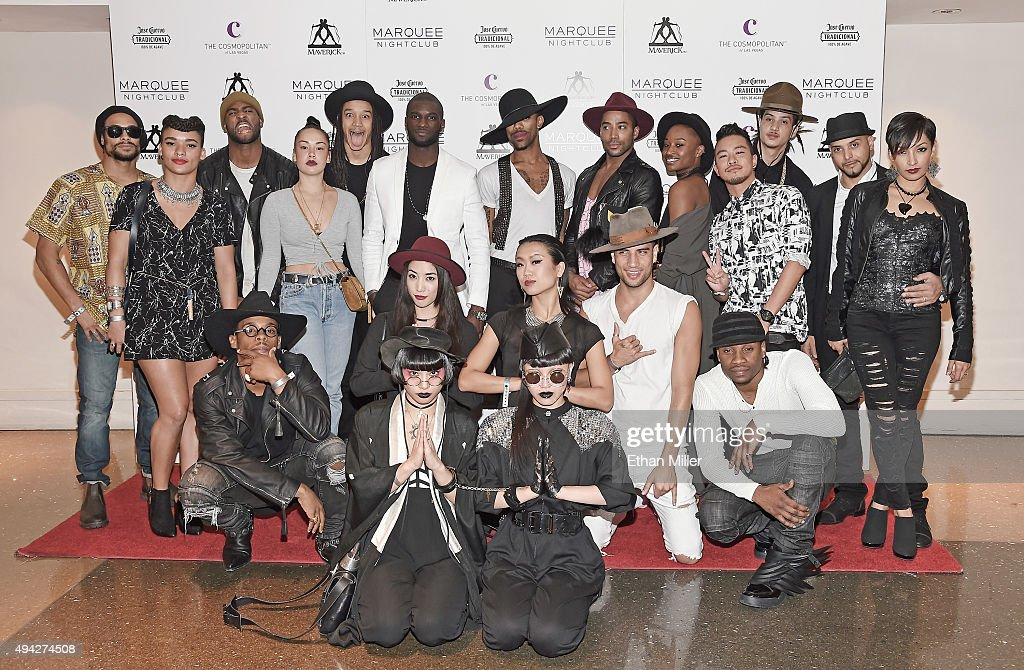 Dancers for singer Madonna (not pictured) arrive at the Marquee Nightclub at The Cosmopolitan of Las Vegas to host an after party for their Rebel Heart Tour concert stop on October 25, 2015 in Las Vegas, Nevada.