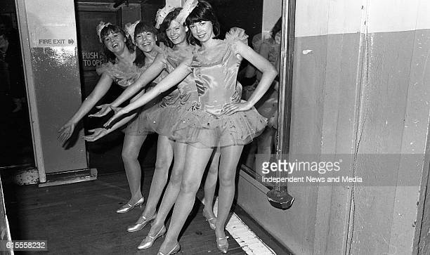 Dancers form the Aer Lingus Variety Group Show 'Carnival 83' which opened in the Gaiety Theatre Dublin Ann Tyrrell Monica Tighe Ursula Cordial and...