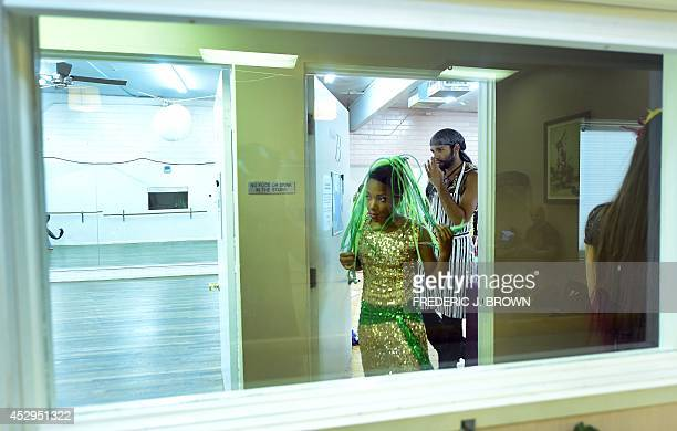 Dancers from Bellydance Evolution while going through a final full rehearsal on July 30 2014 at a dance studio in North Hollywood California for a...