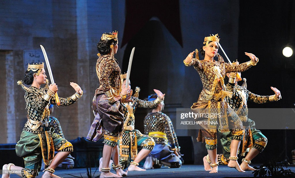 Dancers from Camodia's Royal Ballet perform during the opening ceremony of the 16th edition of the Sacred Music Festival in Fes on June 4, 2010. The festival was inaugurated by the Royal Ballet troop of Cambodia with a 'cultural repertoire dating back more than one thousand years' the organisers said.