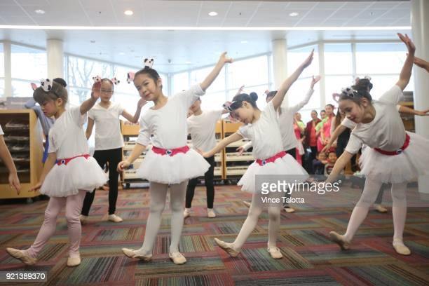 Dancers from Carol C Dance Studio perform at Chinese New year festivities at Markham Milliken Mills Branch library