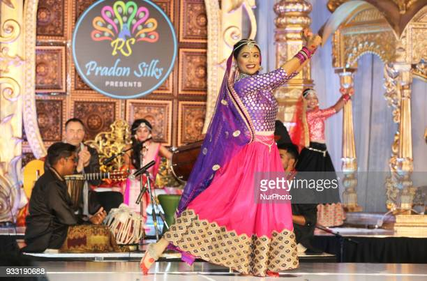 Dancers from Sathangai Narthanalaya perform a traditional dance to the Ghoomar song from the Bollywood film Padmaavat during the Amarpali 2018...