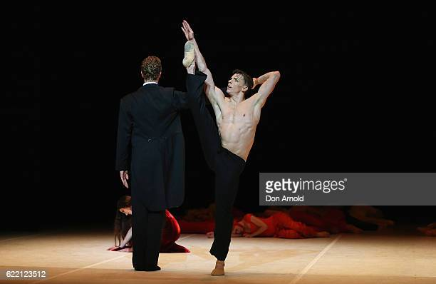 Dancers from the Australian Ballet perform during a dress rehearsal of Nijinsky at Sydney Opera House on November 10 2016 in Sydney Australia