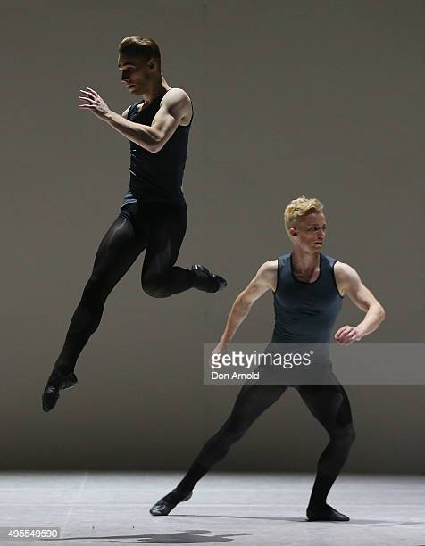 Dancers from the Australian ballet perform during a media call for 2021 at Sydney Opera House on November 4 2015 in Sydney Australia