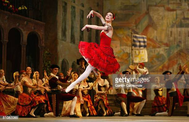 """Dancers from The Bolshoi Ballet participate in a technical rehearsal of Petipa's """"Don Quixote"""" ballet at the Royal Opera House, Covent Garden on July..."""