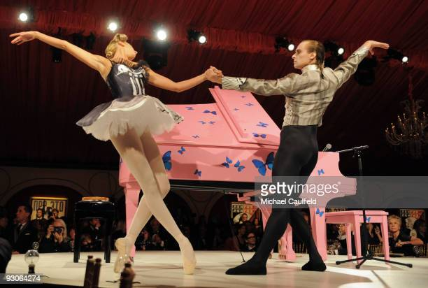 Dancers from The Bolshoi Ballet perform during the MOCA NEW 30th anniversary gala held at MOCA on November 14 2009 in Los Angeles California