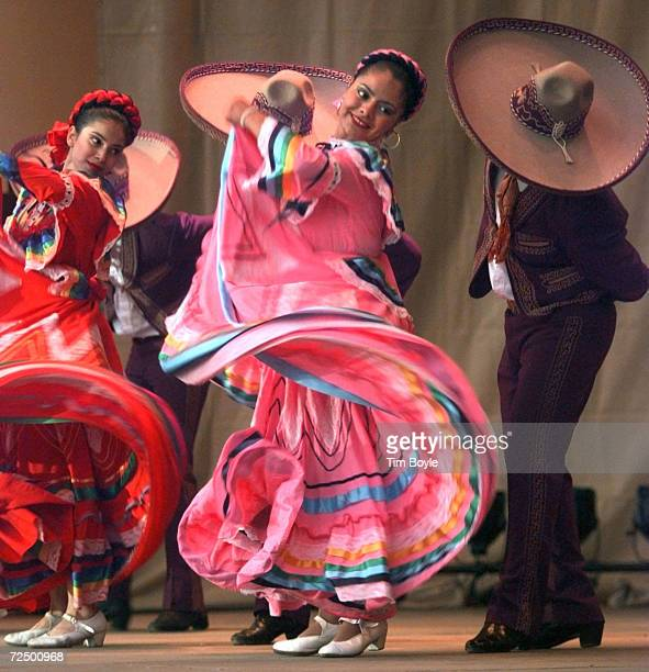 Dancers from the group Ballet Mexico perform during Grito de Dolores Mexican Independence Day celebrations at Grant Park in Chicago Illinois...