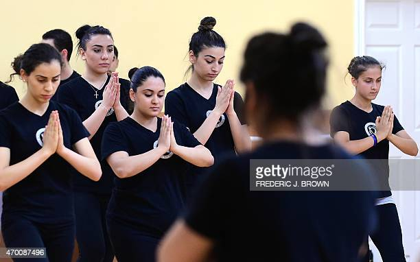Dancers from the Hayastan Cultural Center rehearse under instructor Tigran in North Hollywood California on April 14 2015 for their May 31...