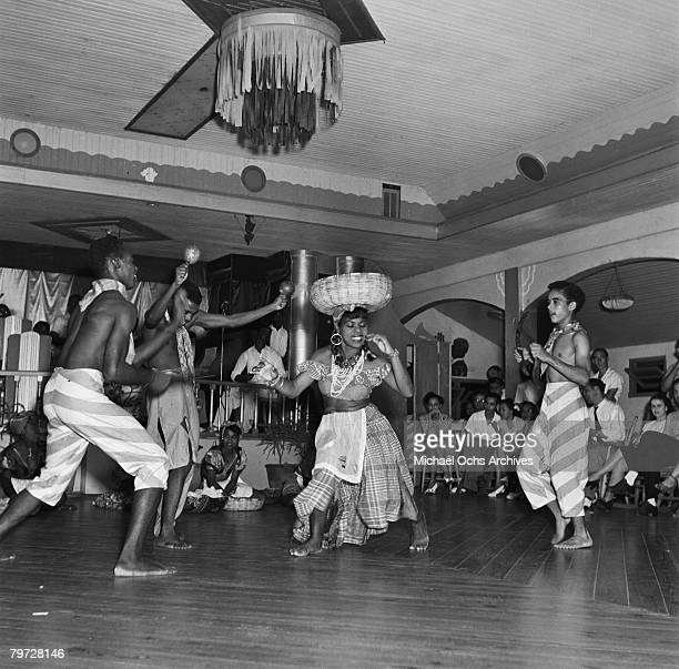 Dancers from the HolnessRiley dance company perform a market dance in 1946 in Kingston Jamaica