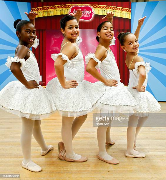 Dancers from the Kips Bay Boys and Girls Club attend First Angelina Ballerina Stars of Tomorrow and Dizzy Feet Foundation National Dance Scholarship...