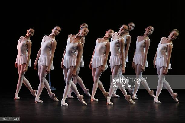 Dancers from the MonteCarlo ballet perform in the show CasseNoisette et Compagnie a new creation by French dancer and choreographer JeanChristophe...