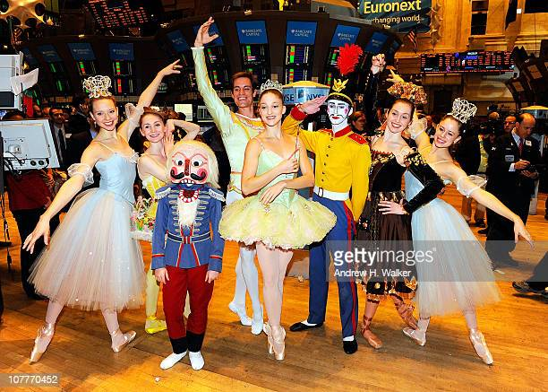 Dancers from the New York City Ballet's 'The Nutcracker' visit The New York Stock Exchange on December 23 2010 in New York City