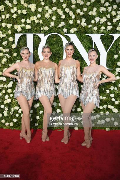 Dancers from The Rockettes attend the 2017 Tony Awards at Radio City Music Hall on June 11 2017 in New York City