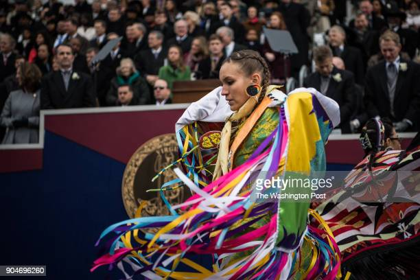 Dancers from Virginia Native American Tribes perform during the inauguration of Gov Ralph Northam on Saturday January 13 at the Virginia State...