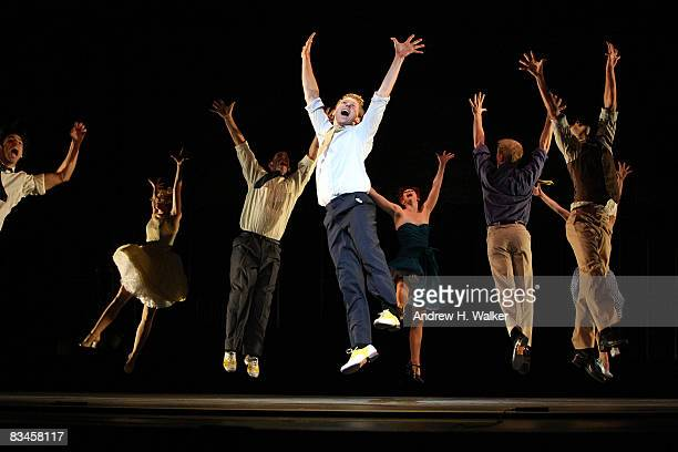 Dancers from West Side Story perform at the the dress rehearsal for On Broadway A Glittering Salute to the American Musical at City Center on October...