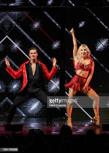 Dancers Gleb Savchenko and Emma Slater perform during Dancing with the Stars Live A Night To Remember New York New York at Radio City Music Hall on...