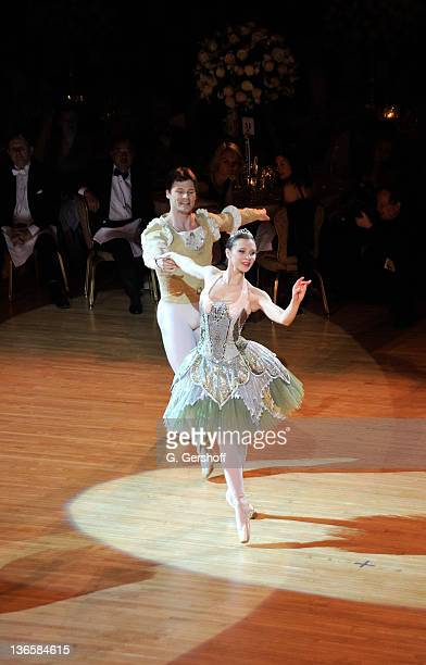 Dancers Gregor Hatala and Mila Schmidt perform during the 56th annual Viennese Opera Ball at The Waldorf=Astoria on February 4, 2011 in New York City.