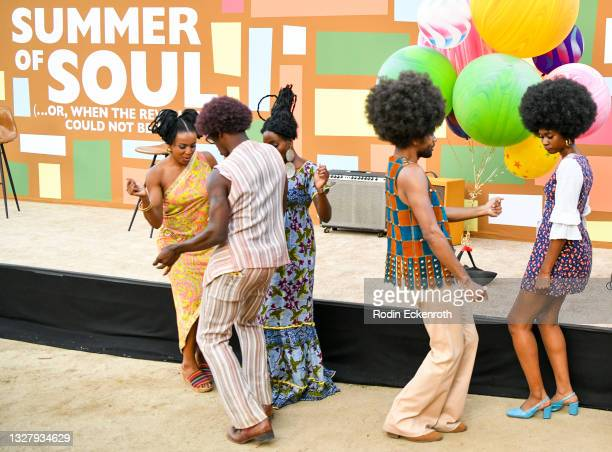 """Dancers groove at the Cinespia Special Screening of Fox Searchlight and Hulu's """"Summer Of Soul"""" with Questlove at The Greek Theatre on July 09, 2021..."""