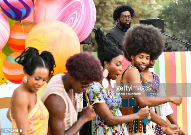 """Dancers groove to Questlove at the Cinespia Special Screening of Fox Searchlight and Hulu's """"Summer Of Soul"""" with Questlove at The Greek Theatre on..."""