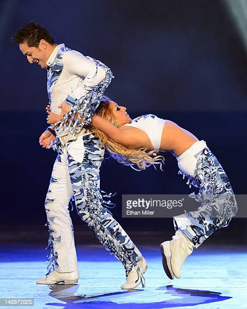 Dancers Guillermo Castro and Martha Castro of Hermanos Castro perform during the Q'Viva The Chosen Live show at the Mandalay Bay Events Center on May...