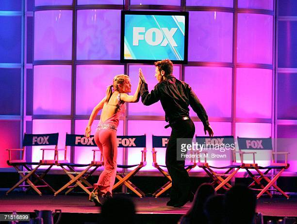 """Dancers Heidi Groskreutz and Benji Schwimmer from """"So You Think You Can Dance"""" perform onstage during the 2006 Summer Television Critics Association..."""