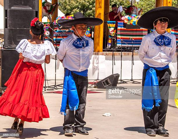 Dancers in Colorful Costumes at Cinco de Mayo Celebration
