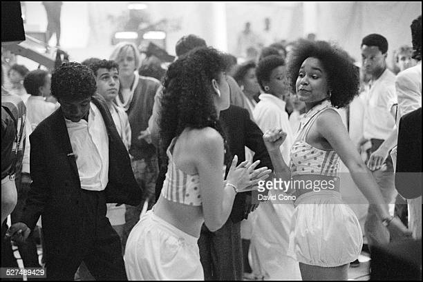 Dancers in the audience on the Channel 4 TV music show '620 Soul Train' London United Kingdom 4 September 1985