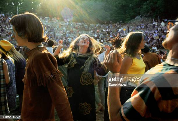 Dancers in the crowd at the Fantasy Fair festival in Mill Valley, California, during the Summer of Love, 1967;