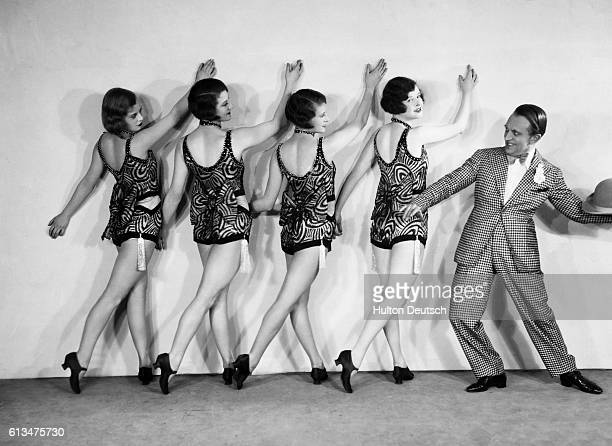 Dancers in the show 'Burlesque' photographed by Sasha at the Queen's Theatre London 1938 Sasha is known for his theatrical portraits | Location...