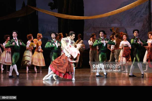 Dancers including Audric Bezard perform in 'Don Quichotte' during the 32th 'Reve d'Enfants' Charity Gala at Opera Bastille on December 17 2017 in...