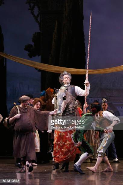 Dancers including Yann Chailloux perform in 'Don Quichotte' during the 32th 'Reve d'Enfants' Charity Gala at Opera Bastille on December 17 2017 in...