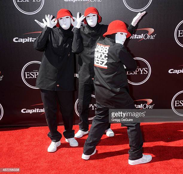 Dancers JabbaWockeez arrives at the 2014 ESPY Awards at Nokia Theatre LA Live on July 16 2014 in Los Angeles California