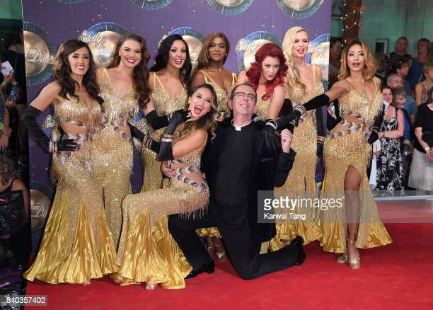 Dancers Janette Manrara Chloe Hewitt Amy Dowden Oti Mabuse Dianne Buswell Nadiya Bychkova and Karen Clifton dancer Katya Jones and contestant...