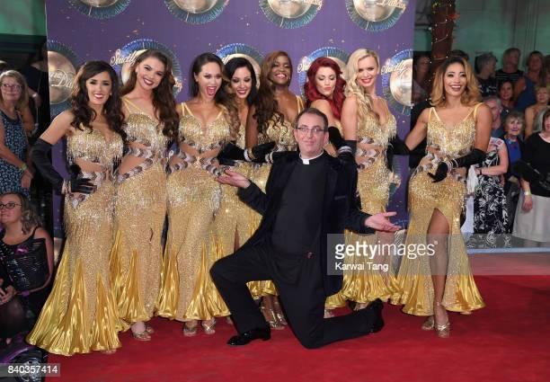 Dancers Janette Manrara, Chloe Hewitt, Amy Dowden, Oti Mabuse, Dianne Buswell, Nadiya Bychkova and Karen Clifton dancer Katya Jones and contestant...