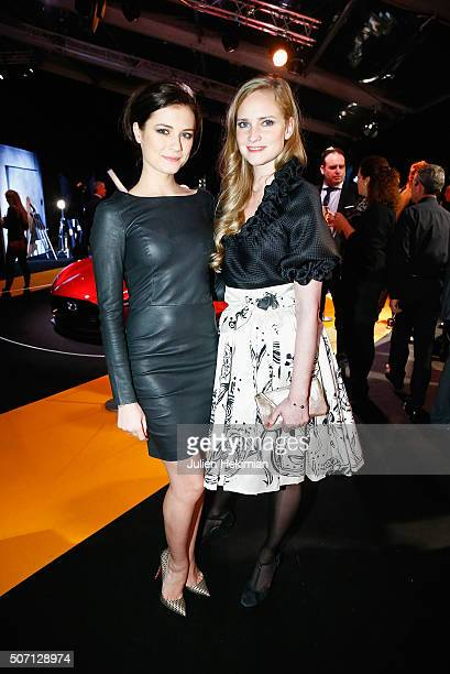 Dancers Juliette Gernez and Alice Dufour attend the 'Pirelli Calendar by Annie Leibovitz' Launch Party At Hotel National Des Invalides on January 27...