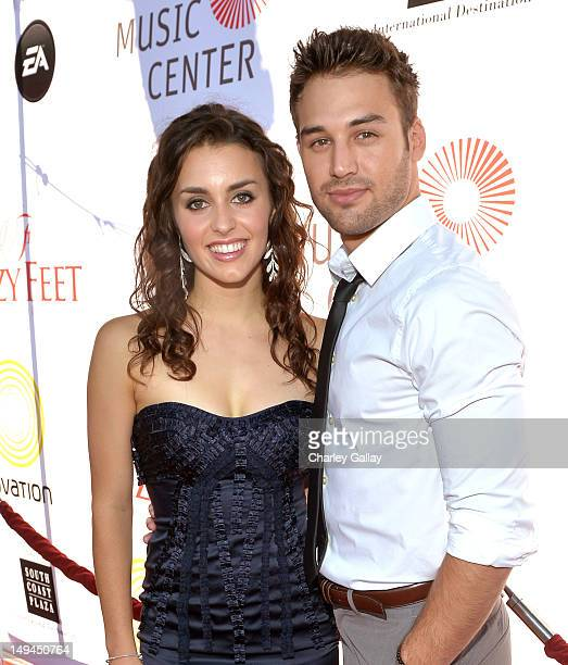 Dancers Kathryn McCormick and Ryan Guzman attend the 2nd Annual Dizzy Feet Foundation's Celebration of Dance Gala at Dorothy Chandler Pavilion on...