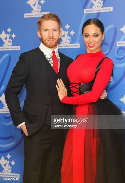 Dancers Katya Jones and Neil Jones arriving at The National Lottery Awards 2017 at The London Studios on September 18 2017 in London England The...