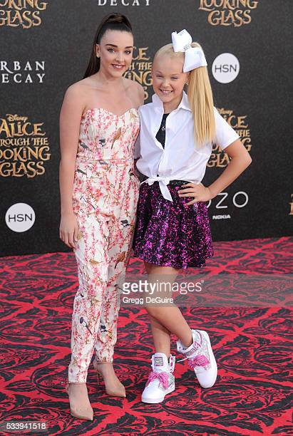 Dancer's Kendall Vertes and JoJo Siwa arrive at the premiere of Disney's 'Alice Through The Looking Glass' at the El Capitan Theatre on May 23 2016...