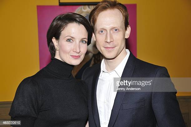 Dancers Lauren Cuthbertson and Edward Watson attend The Royal Ballet's The Winter Tale preview reception at Crosby Street Hotel on February 11 2015...