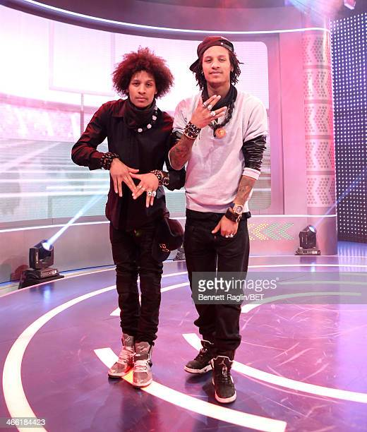 Dancers Les Twins perform visit 106 Park at BET studio on January 30 2014 in New York City