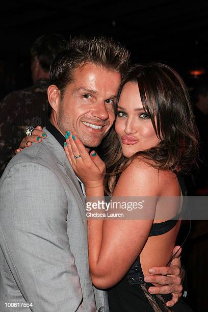 Dancers Louis Van Amstel and Lacey Schwimmer attend the birthday celebration for Edyta Sliwinska at XIV on May 24 2010 in West Hollywood California