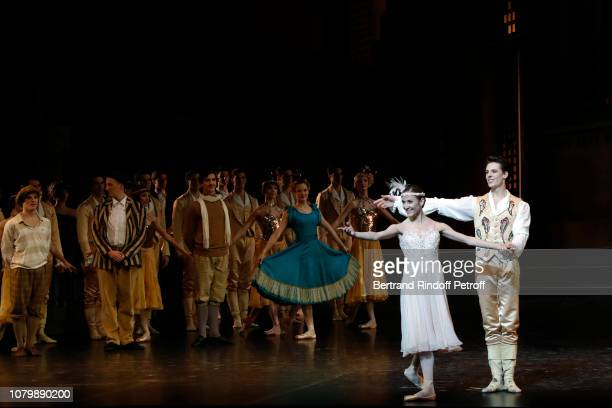 Dancers Ludmilla Pagliero and Alessio Carbone perform 'Cendrillon' choregraphing by Rudolf Noureev during 'Reve d'Enfant' Charity Gala at Opera...