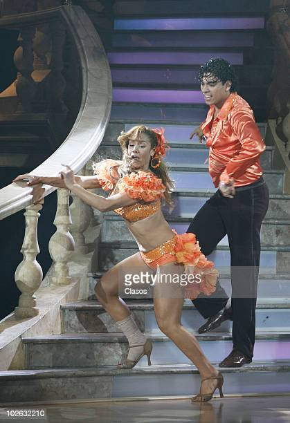 Dancers Luis David and Liz Vega perform during the 2nd World Championship of Dance on July 4 2010 in Mexico City Mexico