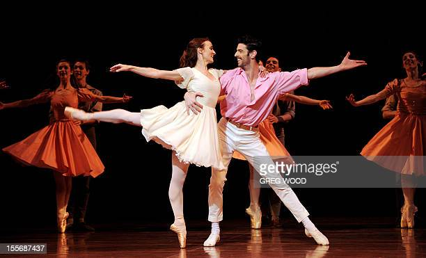 Dancers Madeleine Eastoe and Andrew Killian rehearse the Australian Ballet's 'The Display' which forms part of the triple bill 'Icons' at the Sydney...