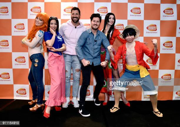 Dancers Maksim Chmerkovskiy and his brother Valentin Chmerkovskiy attend a news conference celebrating the 1st Anniversary of One Piece Thousand...